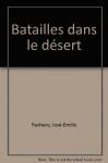 """Couverture du livre : """"Batailles dans le désert"""""""