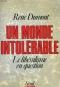 """Couverture du livre : """"Un monde intolérable"""""""