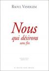 """Couverture du livre : """"Nous qui désirons sans fin"""""""