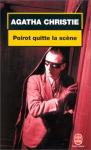 """Couverture du livre : """"Poirot quitte la scène..."""""""