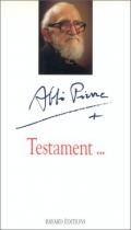 """Couverture du livre : """"Testament"""""""