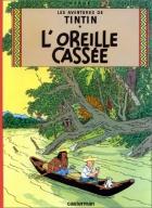 """Couverture du livre : """"Tintin et l'oreille cassée"""""""