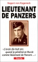 """Couverture du livre : """"Lieutenant de panzers"""""""