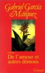 """Couverture du livre : """"De l'amour et autres démons"""""""
