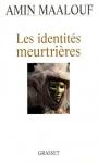 """Couverture du livre : """"Les identités meurtrières"""""""