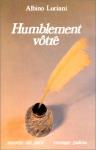 """Couverture du livre : """"Humblement vôtre"""""""