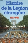 """Couverture du livre : """"Histoire de la légion étrangère"""""""