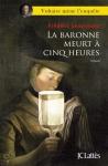 """Couverture du livre : """"La baronne meurt à cinq heures"""""""