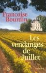 """Couverture du livre : """"Les vendanges de juillet"""""""