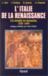 """Couverture du livre : """"L'Italie de la Renaissance"""""""