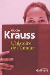 """Couverture du livre : """"L'histoire de l'amour"""""""