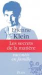 """Couverture du livre : """"Les secrets de la matière"""""""