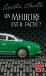 """Couverture du livre : """"Un meurtre est-il facile ?"""""""