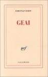 """Couverture du livre : """"Geai"""""""
