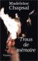 """Couverture du livre : """"Trous de mémoire"""""""