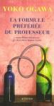 """Couverture du livre : """"La formule préférée du professeur"""""""