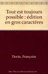"""Couverture du livre : """"Tout est toujours possible"""""""