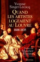 """Couverture du livre : """"Quand les artistes logeaient au Louvre"""""""