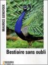 """Couverture du livre : """"Bestiaire sans oubli"""""""