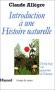 """Couverture du livre : """"Introduction à une histoire naturelle"""""""