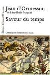 """Couverture du livre : """"Saveur du temps"""""""