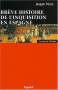 """Couverture du livre : """"Brève histoire de l'Inquisition en Espagne"""""""