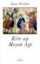 """Couverture du livre : """"Rire au Moyen Âge"""""""