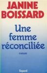 """Couverture du livre : """"Une femme réconciliée"""""""