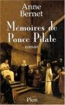 """Couverture du livre : """"Mémoires de Ponce Pilate"""""""
