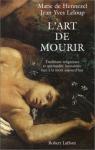 """Couverture du livre : """"L'art de mourir"""""""