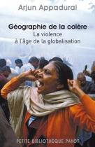 """Couverture du livre : """"Géographie de la colère"""""""