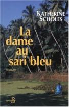 """Couverture du livre : """"La dame au sari bleu"""""""