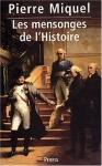 """Couverture du livre : """"Les mensonges de l'Histoire"""""""