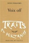 """Couverture du livre : """"Voix off"""""""