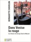 """Couverture du livre : """"Dans Venise la rouge"""""""