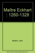 """Couverture du livre : """"Maître Eckhart"""""""