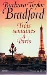 """Couverture du livre : """"Trois semaines à Paris"""""""
