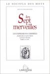 """Couverture du livre : """"Les sept merveilles"""""""
