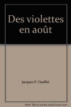 """Couverture du livre : """"Des violettes en août"""""""