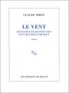 """Couverture du livre : """"Le vent"""""""