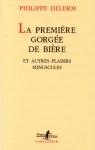 """Couverture du livre : """"La première gorgée de bière"""""""