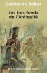 """Couverture du livre : """"Les bas-fonds de l'Antiquité"""""""