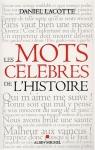 """Couverture du livre : """"Les mots célèbres de l'Histoire"""""""