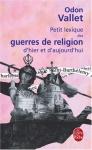 """Couverture du livre : """"Petit lexique des guerres de religion d'hier et d'aujourd'hui"""""""