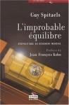 """Couverture du livre : """"L'improbable équilibre"""""""