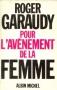 """Couverture du livre : """"Pour l'avènement de la femme"""""""