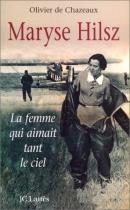 """Couverture du livre : """"Maryse Hilsz"""""""