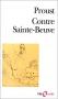 """Couverture du livre : """"Contre Sainte-Beuve"""""""