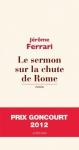 """Couverture du livre : """"Le sermon sur la chute de Rome"""""""