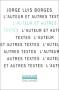 """Couverture du livre : """"L'auteur et autres textes"""""""